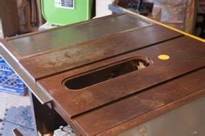 remove rust from table saw remove rust from a table saw top tools in power