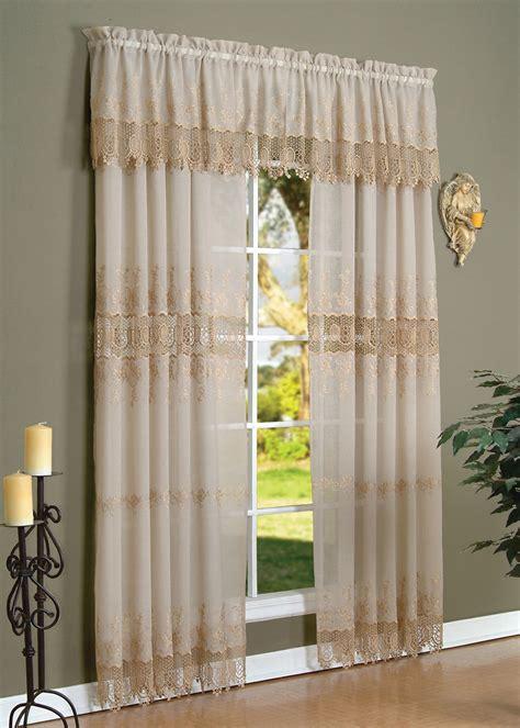 anna maria macrame embroidered curtain panel curtain