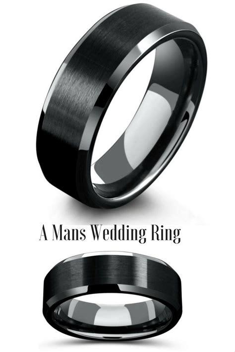 1000 ideas about black wedding rings on pinterest black
