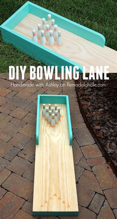 diy indoor games remodelaholic diy indoor outdoor bowling lane