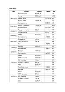 MODELO DE LIVRO DIÁRIO - Contabilidade Comercial