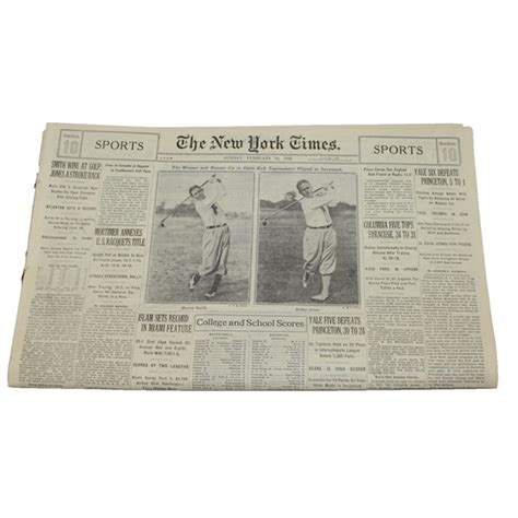 ny times sports section lot detail 1930 ny times sports section horton smith