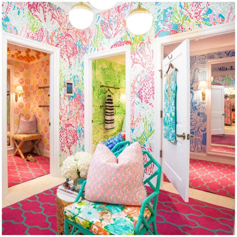 lilly pulitzer bedroom wallpaper the lilly pulitzer dressing room i was in a couple weeks