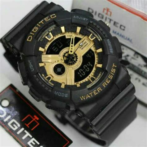 Digitec Dg 3025t Original Black List Gold jual jam tangan digitec dg 2020t original water resistant