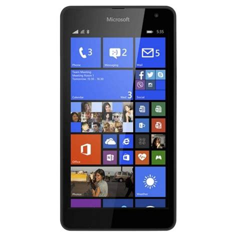 tesco mobile phones sim free buy tesco mobile microsoft lumia 535 black from our pay as