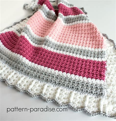 Free Crochet Patterns For Babies Blankets by Free Crochet Pattern Essentials Baby Blanket Pattern