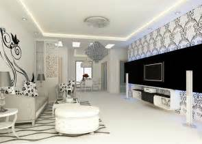 Salon Blanc Et Noir