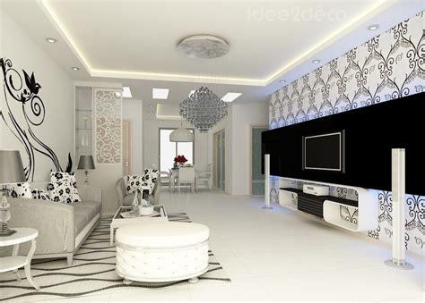 Deco Salon Noir Et Blanc Design by Deco Salon Design Noir Et Blanc