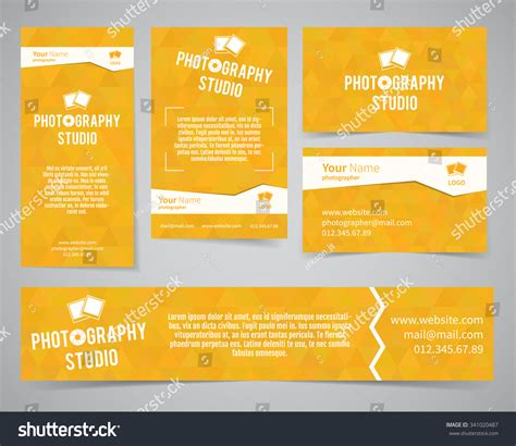 template of posters with business card modern light identity set business card banner flyer