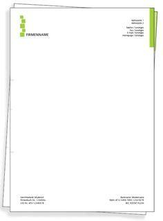 Design Vorlagen Briefpapier logo and contact info all above header line letterhead