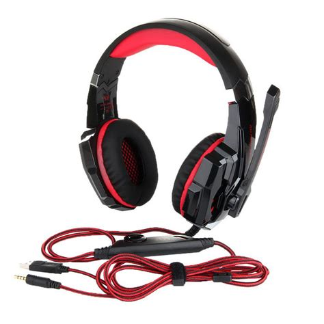 Headphone Gaming Kotion Each G1000 7 Led Color Original kotion each g9000 3 5mm glaring led light gaming headset black free shipping dealextreme