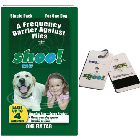 flea shoo for dogs shoo tag fly repellent single naturalpetwarehouse