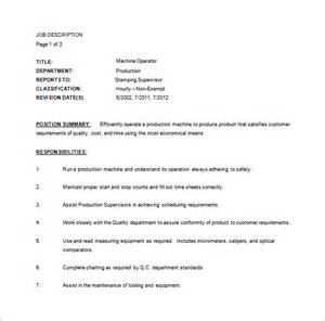 Machine Operator Description by Sle Resume For A Sewing Machine Operator