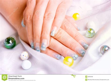 Decorated Nails by Decorated Nails Royalty Free Stock Photos Image 2846458