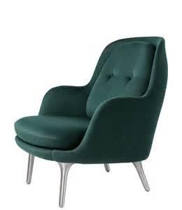 Hans Wegner Armchair Fri Easy Chair Fabric Brushed Aluminium Base
