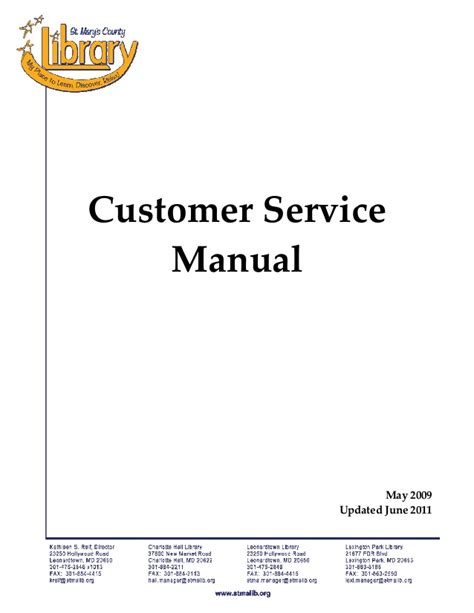 customer service manual template customer service policy manual un11
