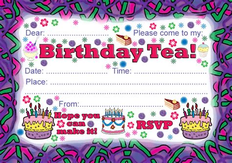 how to create printable party decorations birthday tea party invitation rooftop post printables
