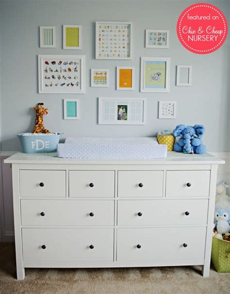 Ikea Dresser As A Changing Table In Baby Blue Boy Nursery Ikea Hemnes Changing Table