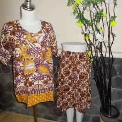 babydoll baju santai kulot batik kembang setaman cokelat
