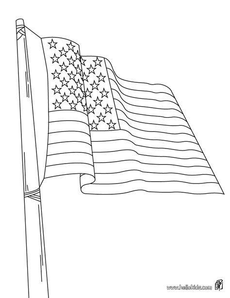American Flag Coloring Page Coloring Pages Flag Coloring Page