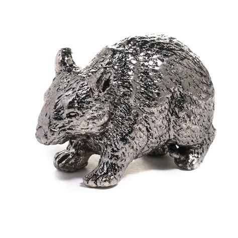 miniature pewter rat figurine animal miniatures