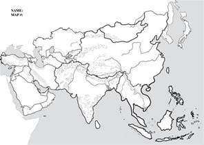 Asia Blank Map by Blank Physical Map Of Asia