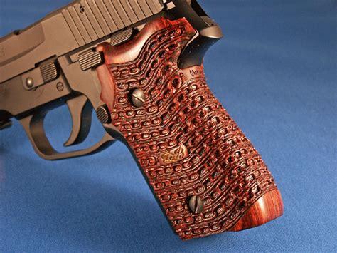 Handmade Gun Grips - pistol grip carving of p 228 sig sauer
