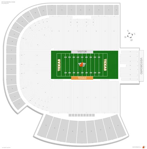 texas stadium seat map dkr texas memorial stadium texas seating guide rateyourseats