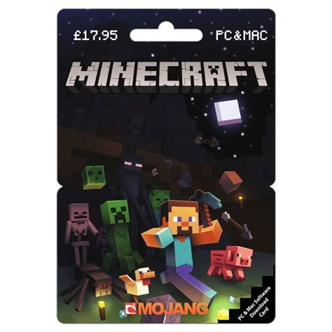 Gift Card Minecraft - minecraft pc 163 17 95 posa card gaming gift cards uk