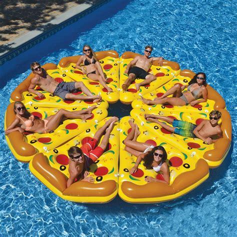 luft matratze swimline pool pizza slice float