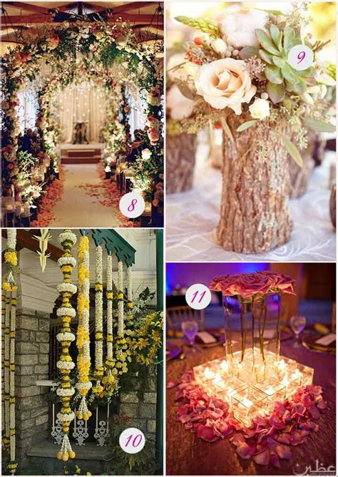 10 flower decorations for wedding reception