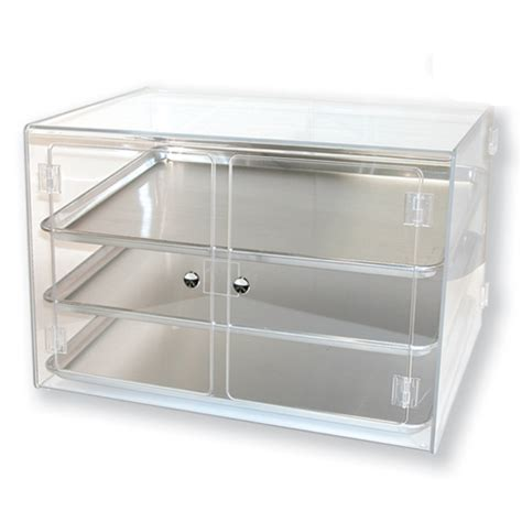 metal sheet pan display for pastry use countertop
