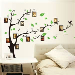 Simple Wall Mural Designs Family Mural Tree Wall Decoration With Curved Branches