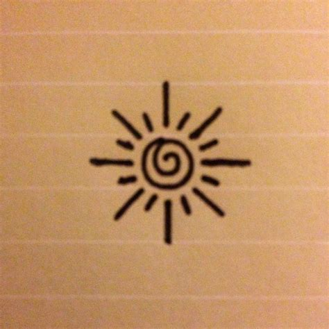 sun tattoo small this is a small simple design of a sun perhaps for an