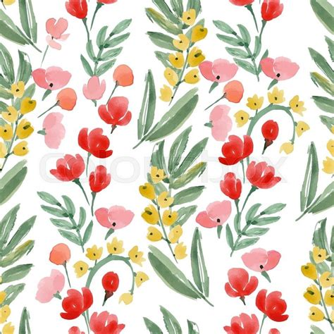 hand drawn wallpaper vintage watercolor wallpaper of hand drawn flowers and