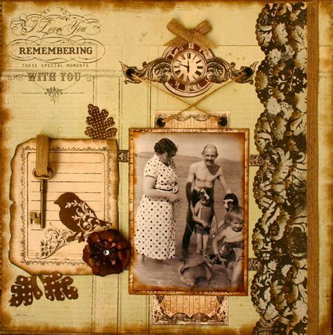 scrapbook layout vintage pin by connie green on vintage scrapbook layouts pinterest