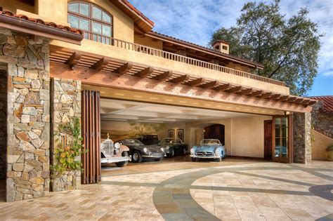 Shed Style Roof ultimate garages mediterranean san francisco by mark