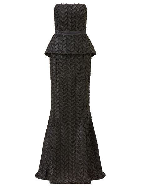 house of fraser designer dresses ariella black stella leaf design evening dress black house of fraser