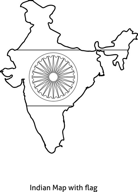 indian flag page coloring pages