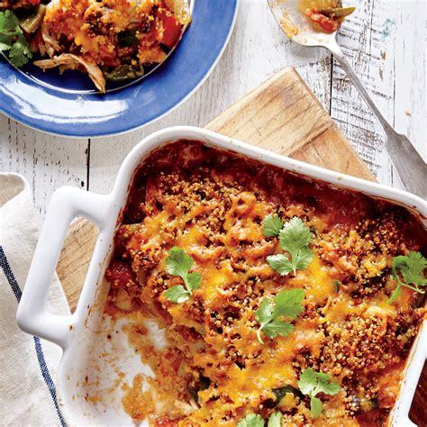 cooking light quinoa recipes king ranch chicken and quinoa casserole recipe myrecipes