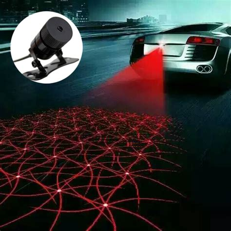 car laser fog lamp anti fog light auto rearing warming