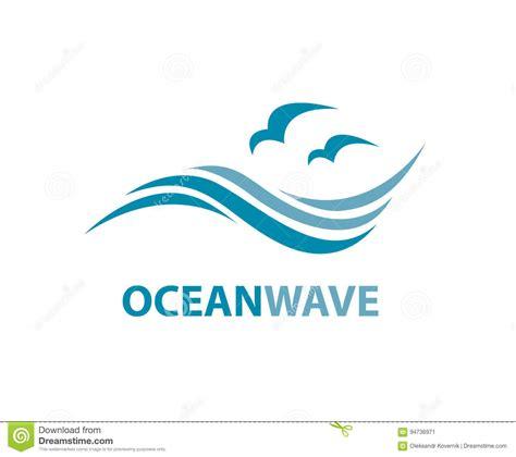 sea wave logos vector free stock vector wave logo stock vector illustration of