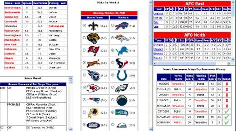 football pool sheets new calendar template site