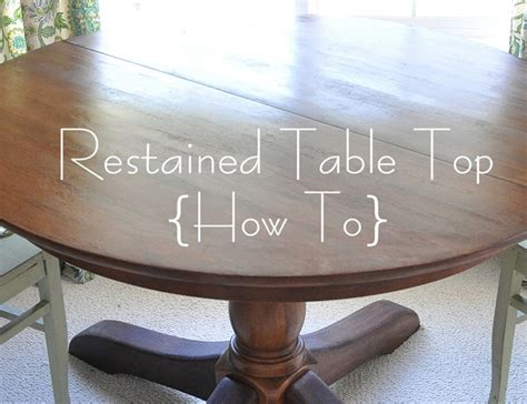 How to Restain A Wood Table Top   Centsational Girl