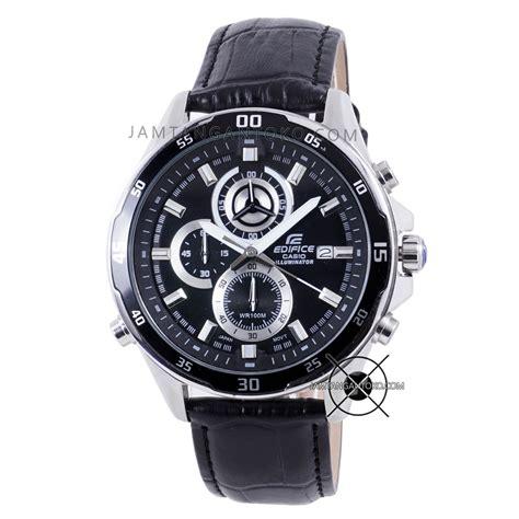 harga sarap jam tangan edifice efr 547l 1av kulit hitam illuminator