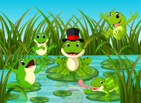 frog top view image vector