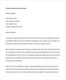 Character Reference Letter Format For Character Reference Letter 6 Free Word Pdf Documents