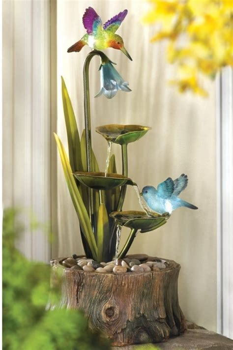 hummingbird home garden decor water fresh