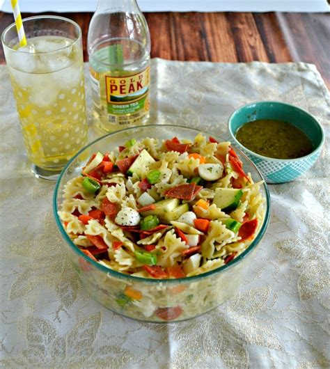tasty pasta salad pasta salad with green tea vinaigrette hezzi d s books