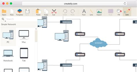 make a diagram network diagram software to quickly draw network diagrams